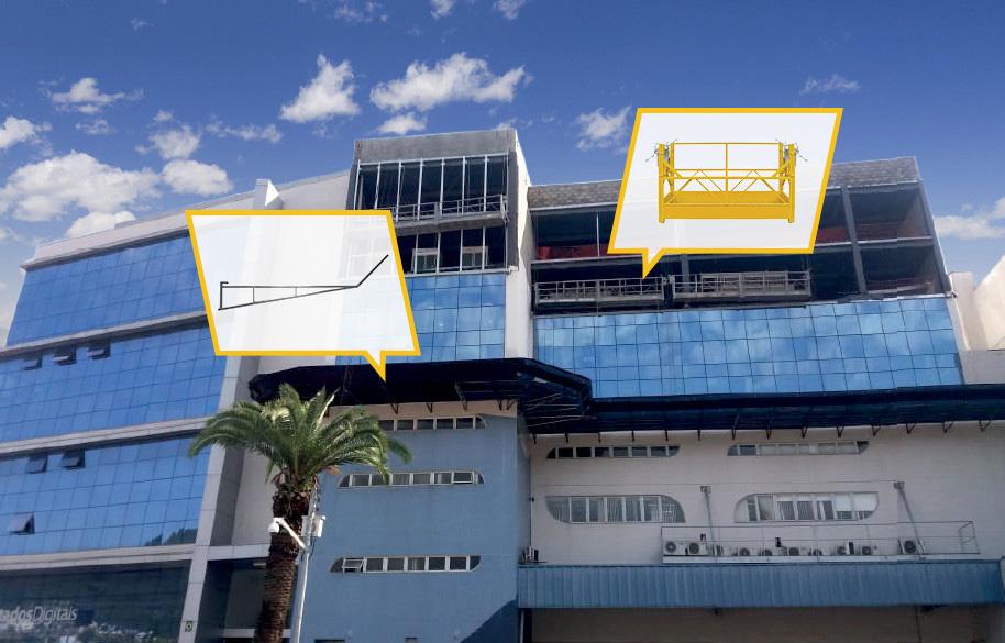 bandeja de proteção galvanizada e balancim - GARANTIA - Elevadores e automação - Criciúma - Florianópolis - Santa Catarina